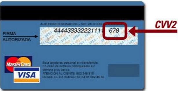 Кроме номера карты на пластике есть номер CVV2, который существует для подтверждения проведения операций по оплате