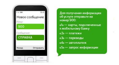 Запросив СПРАВКА на короткий номер, можно узнать всю информацию по услуге Мобильного банка