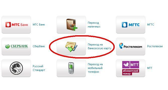"""Провести транзакцию на банковскую карту Сбербанка на сайте МТС можно не только через вкладку """"Сбербанк"""", но и через """"Перевод на банковскую карту"""""""