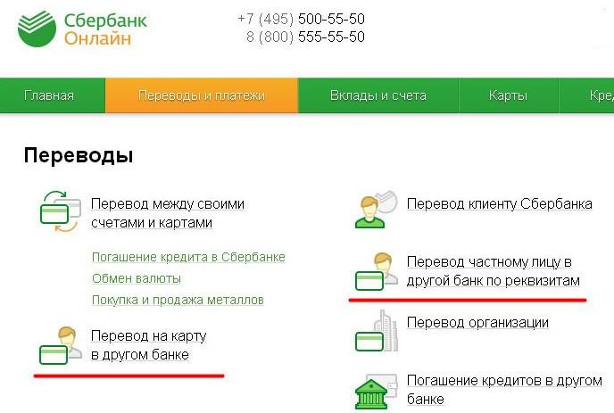 Совершать перевод через интернет-банкинг в режиме онлайн можно не только клиентам Сбербанка, но и на карты других банков