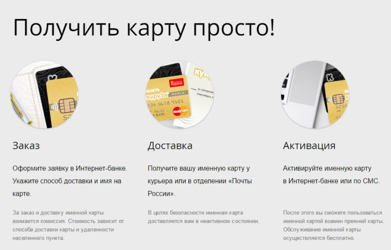 После получения карты необходимо провести ее активацию в интернет-банке или по СМС