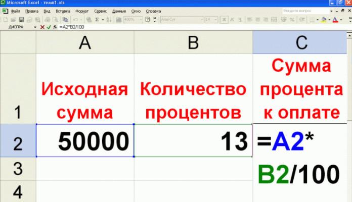 Использование программы Excel, значительно облегчит вычисление процентов, если необходимо посчитать большой объем данных
