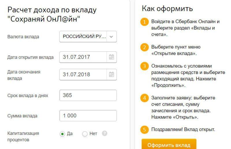 процедура хорошо вклад сохраняй онлайн сбербанк условия системе современного