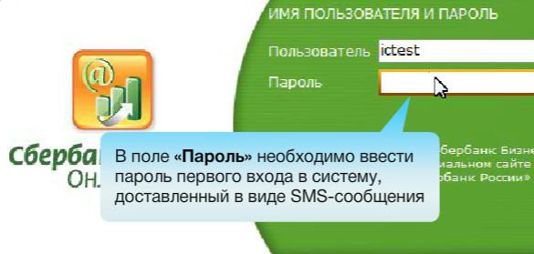Шаг №2. При первом входе введите пароль, доставленный в СМС и нажмите кнопку Войти
