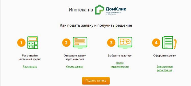Подать заявку в 4 шага